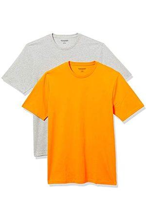 Amazon 2-Pack Slim-Fit Crewneck T-Shirt Fashion-t-Shirts, Mango/Light Heather Grey, US XXL