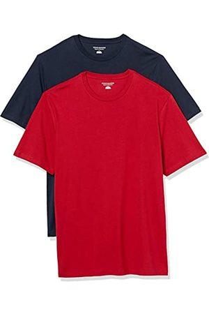 Amazon Set Composto da 2 Magliette a Girocollo a Maniche Corte Fashion-t-Shirts, Navy/ , US S