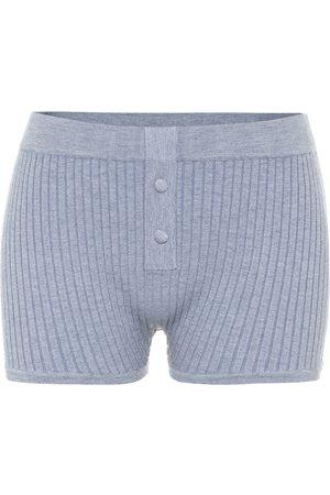 LIVE THE PROCESS Shorts in maglia a costine
