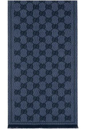 Gucci Uomo Sciarpe - Sciarpa in lana con motivo GG jacquard