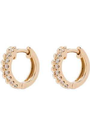 Dana Rebecca Designs Orecchini a cerchio in 14kt con diamanti - YELLOW GOLD