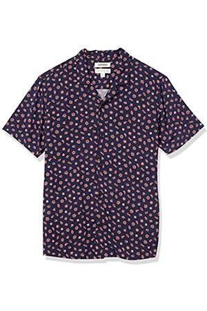 Goodthreads Standard-Fit Short-Sleeve Camp Collar Hawaiian Shirt Athletic-Shirts, Navy Red Foulard, US XXL