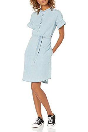 Goodthreads Denim Flutter-Sleeve Dress Dresses, Light Wash, US M