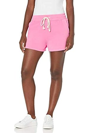 Goodthreads Fleece Heritage-Pantaloncini con Coulisse Athletic-Shorts, Garofano , L