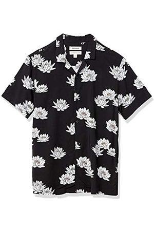 Goodthreads Standard-Fit Short-Sleeve Camp Collar Hawaiian Shirt Athletic-Shirts, Lotus Flower, US