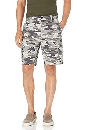 Amazon Lightweight Ripstop Stretch Cargo Short Shorts, Grey Camo, 40