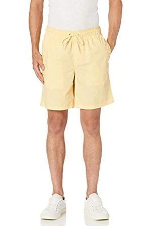 "Amazon 9"" Drawstring Walk Short Athletic-Shorts, Pale Yellow, US L"