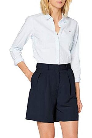 Tommy Hilfiger Linen Tencel Short Jeans Slim, Blu , 48 Donna