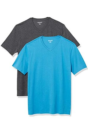 Amazon 2-Pack Slim-Fit V-Neck T-Shirt Fashion-t-Shirts, Imperial /Carbone Heather, US M
