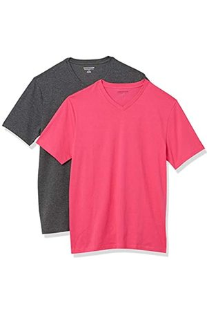 Amazon 2-Pack Slim-Fit V-Neck T-Shirt Fashion-t-Shirts, Acceso/ Antracite, US