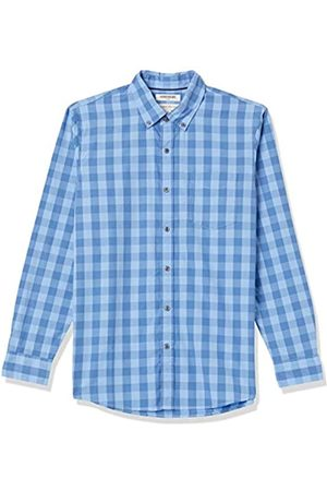 Goodthreads Regular-Fit Long-Sleeve Large-Scale Check Shirt Camicia, Blue, X