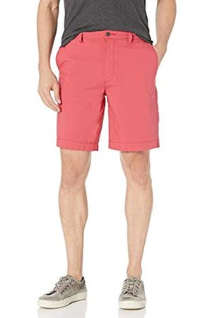 "Amazon Regular-Fit Lightweight Stretch 9"" Short Shorts, Washed Red, 40"