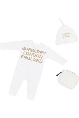 Burberry Tutina E Cappello In Jersey Di Cotone