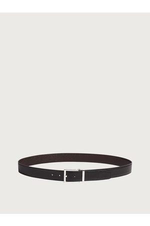 Salvatore Ferragamo Uomo Cintura reversibile e regolabile con fibbia rettangolare