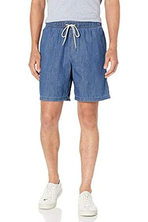 Amazon Pantaloncini con Coulisse da 23 Cm. Athletic-Shorts, Medium Wash Chambray, M