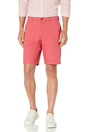 "Amazon Uomo Pantaloncini - Slim-Fit Lightweight Stretch 9"" Short Flat-Front-Shorts, Washed Red, 30"