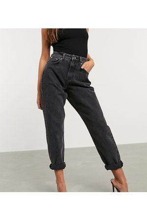 ASOS ASOS DESIGN Petite - Mom jeans vita alta larghi slavato