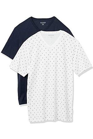 Amazon 2-Pack Slim-Fit V-Neck T-Shirt Fashion-t-Shirts, Anchor/Navy, US