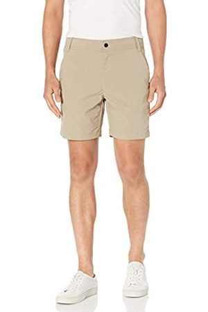 "Amazon Slim-Fit Hybrid Tech 7"" Short Athletic-Shorts, Khaki Chiaro, 33"