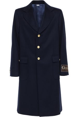 "Gucci Cappotto "" Label Eco"" In Lana E Cashmere"