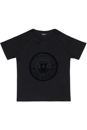 Balmain T-shirt In Jersey Di Cotone Con Logo