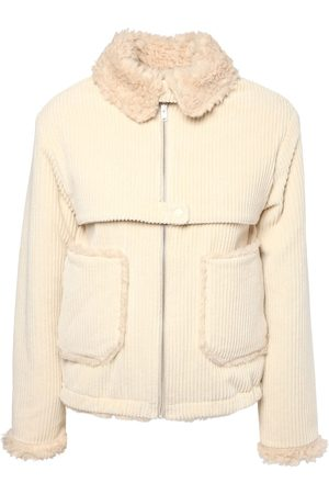Kenzo Giacca In Velluto Ed Eco Shearling