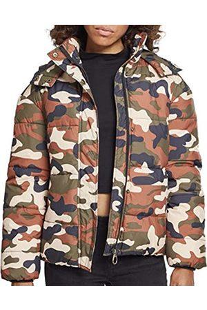 Urban classics Ladies Boyfriend Camo Puffer Jacket Giacca, Multicolore , XX-Large Donna