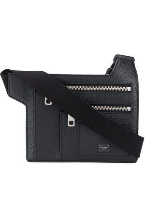 Dolce & Gabbana Angular multi-zip leather belt bag - Di colore