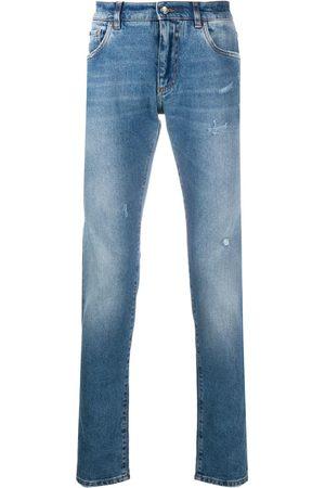 Dolce & Gabbana Jeans slim con effetto schiarito
