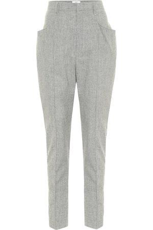 Isabel Marant Pantaloni Loreia in lana, cotone e lino