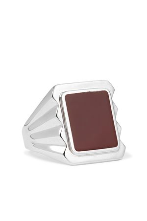 Bottega Veneta Uomo Anelli - Sterling and Stone Signet Ring