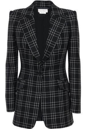 """Alexander McQueen Donna Giacche - Giacca Monopetto """"welsh"""" In Lana Check"""
