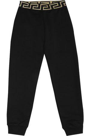 VERSACE Pantaloni sportivi in cotone