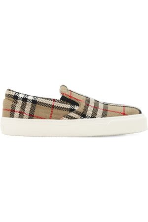 """Burberry Sneakers Slip On """"thompson"""" Check 20mm"""