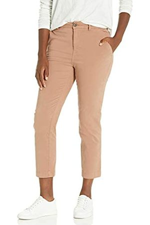 Goodthreads Donna Chinos - Stretch Chino Straight Crop Pant Pants, Clay, US 2