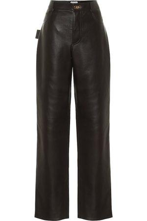 Bottega Veneta Pantaloni in pelle