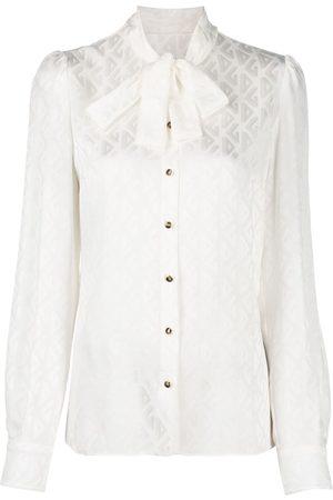 Dolce & Gabbana Blusa con fiocco - Toni neutri