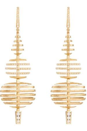 ANNOUSHKA Orecchini Garden Party grandi in e bianco 18kt con diamanti - 18ct Yellow Gold
