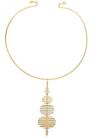 ANNOUSHKA Choker Garden Party in e bianco 18kt con diamanti - 18ct Yellow Gold