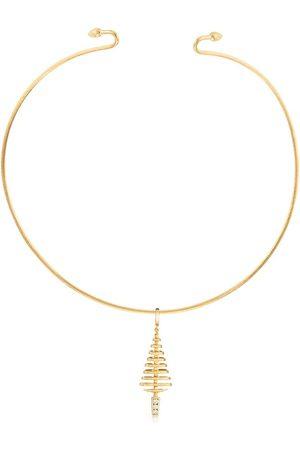 ANNOUSHKA Choker Garden Party con tre pendenti in e bianco 18kt con diamanti - 18ct Yellow Gold