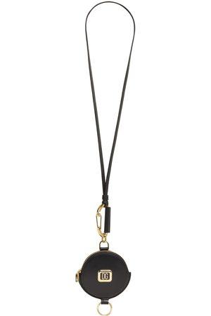 Dolce & Gabbana Portachiavi In Pelle E Metallo Con Logo