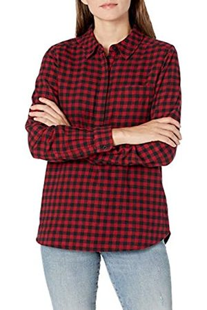 Goodthreads Brushed Flannel Popover Shirt Button-Down-Shirts, Indigo Heather Plaid, US XL