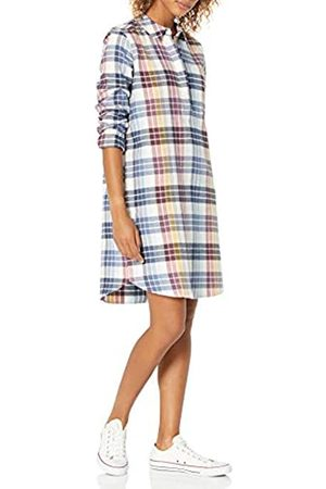 Goodthreads Brushed Flannel Popover Dress Button-Down-Shirts, Multi-Color Plaid, US L