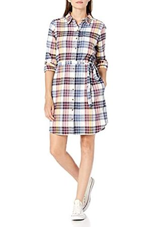 Goodthreads Brushed Flannel Shirt Dress Button-Down-Shirts, Multi-Color Plaid, US XXL
