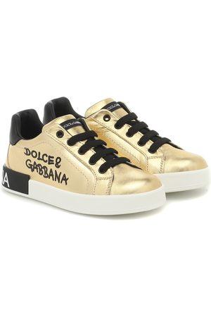 Dolce & Gabbana Sneakers in pelle metallizzata
