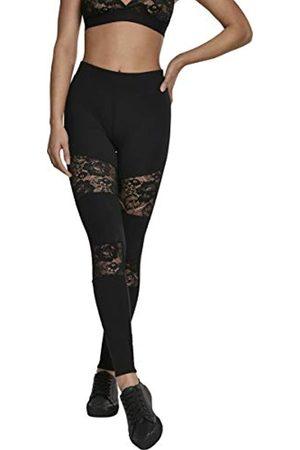 Urban classics Ladies Laces Inset Leggings, Nero , 46 Donna