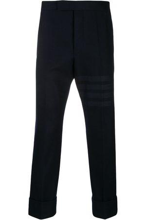 Thom Browne Pantaloni sartoriali crop con dettaglio a 4 righe