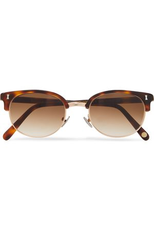 Cubitts Uomo Occhiali da sole - Twyford Round-Frame Acetate and Gold-Tone Sunglasses
