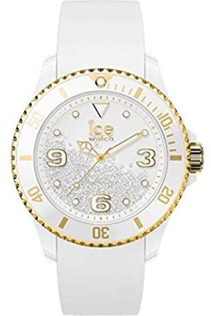 Ice-Watch Ice Crystal White Gold, Orologio da Donna con Cinturino in Silicone, 017247, Medium