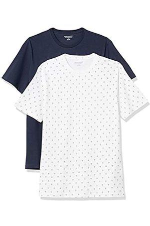 Amazon 2-Pack Slim-Fit Crewneck T-Shirt Fashion-t-Shirts, Anchor/Navy, US